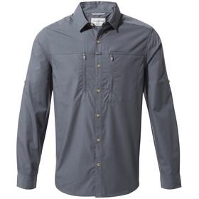 Craghoppers Kiwi Boulder Camicia a maniche lunghe Uomo, ombre blue